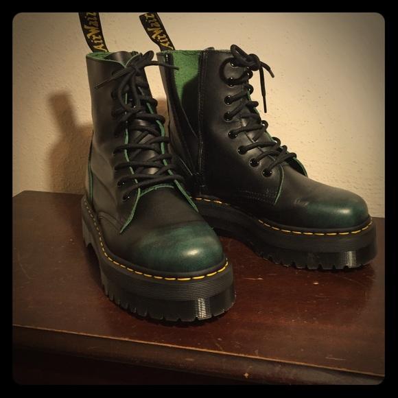 4a34d7c9a636 Dr. Martens Shoes - Dr. Martens Jadon 8-eye Vintage Green Boots